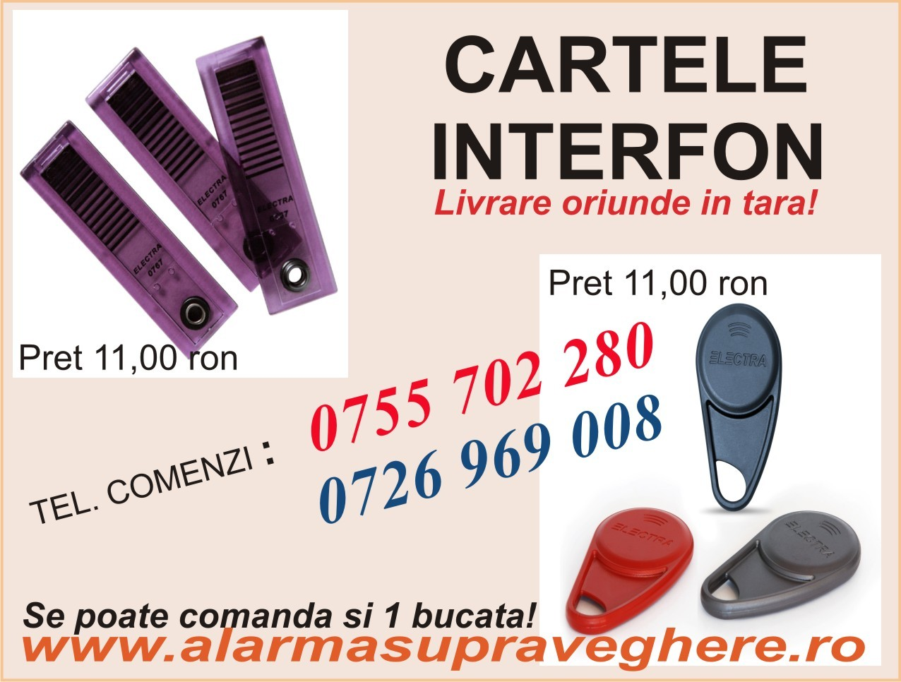 CARTELE ACCES INTERFON
